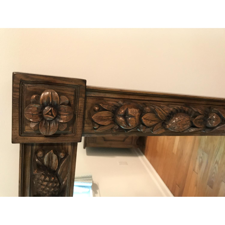 Karges Hand Carved Chestnut Mirror - image-1