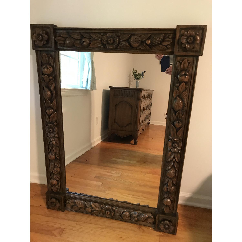 Karges Hand Carved Chestnut Mirror - image-2