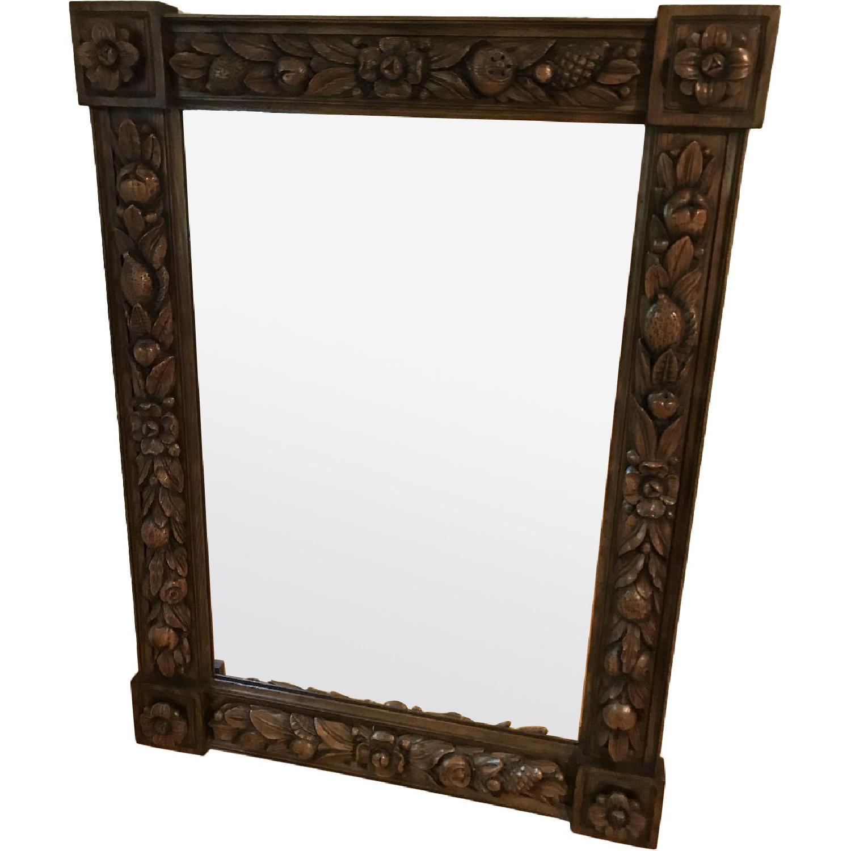 Karges Hand Carved Chestnut Mirror - image-0
