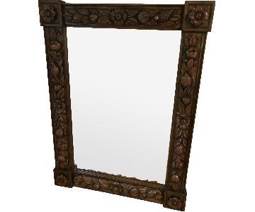 Karges Hand Carved Chestnut Mirror