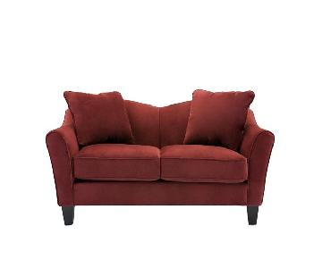 Raymour & Flanigan Scarlet Red Loveseat