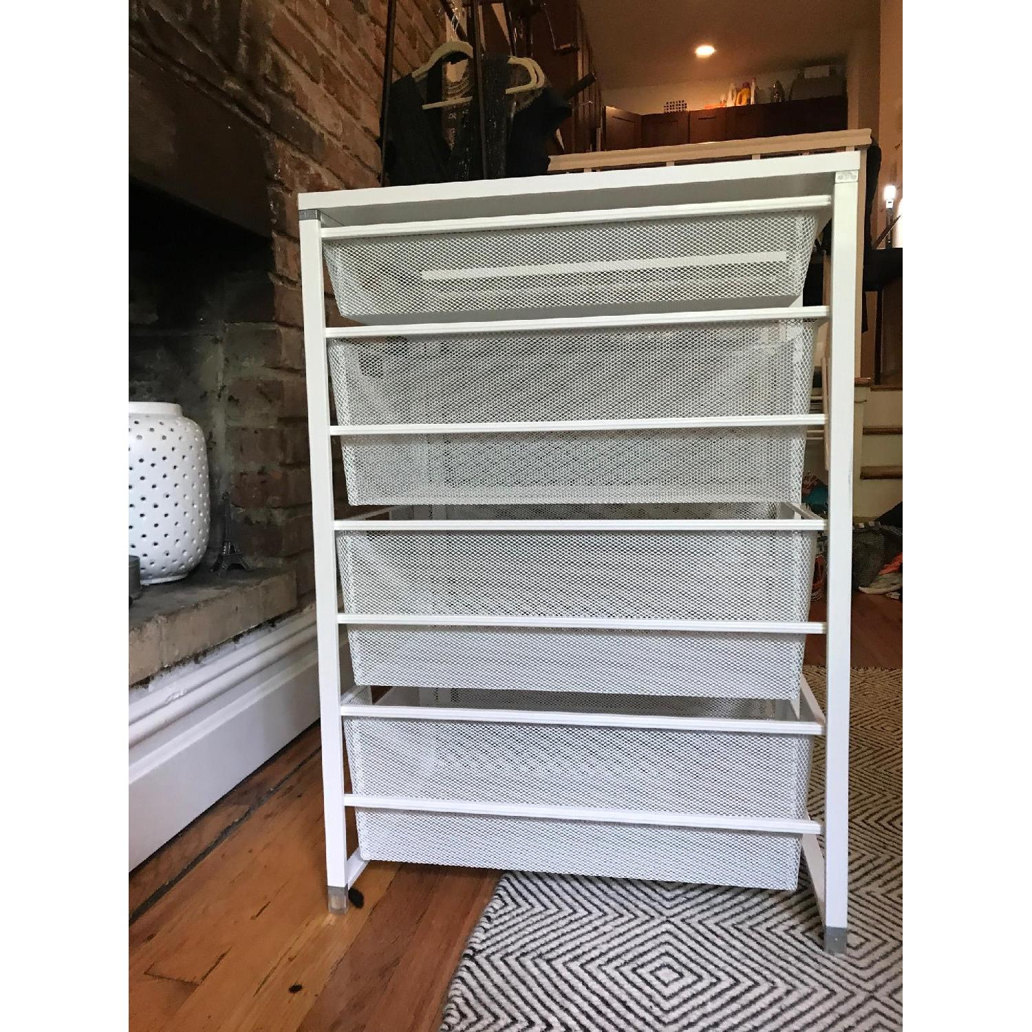 Container Store White Elfa Mesh Closet Drawers