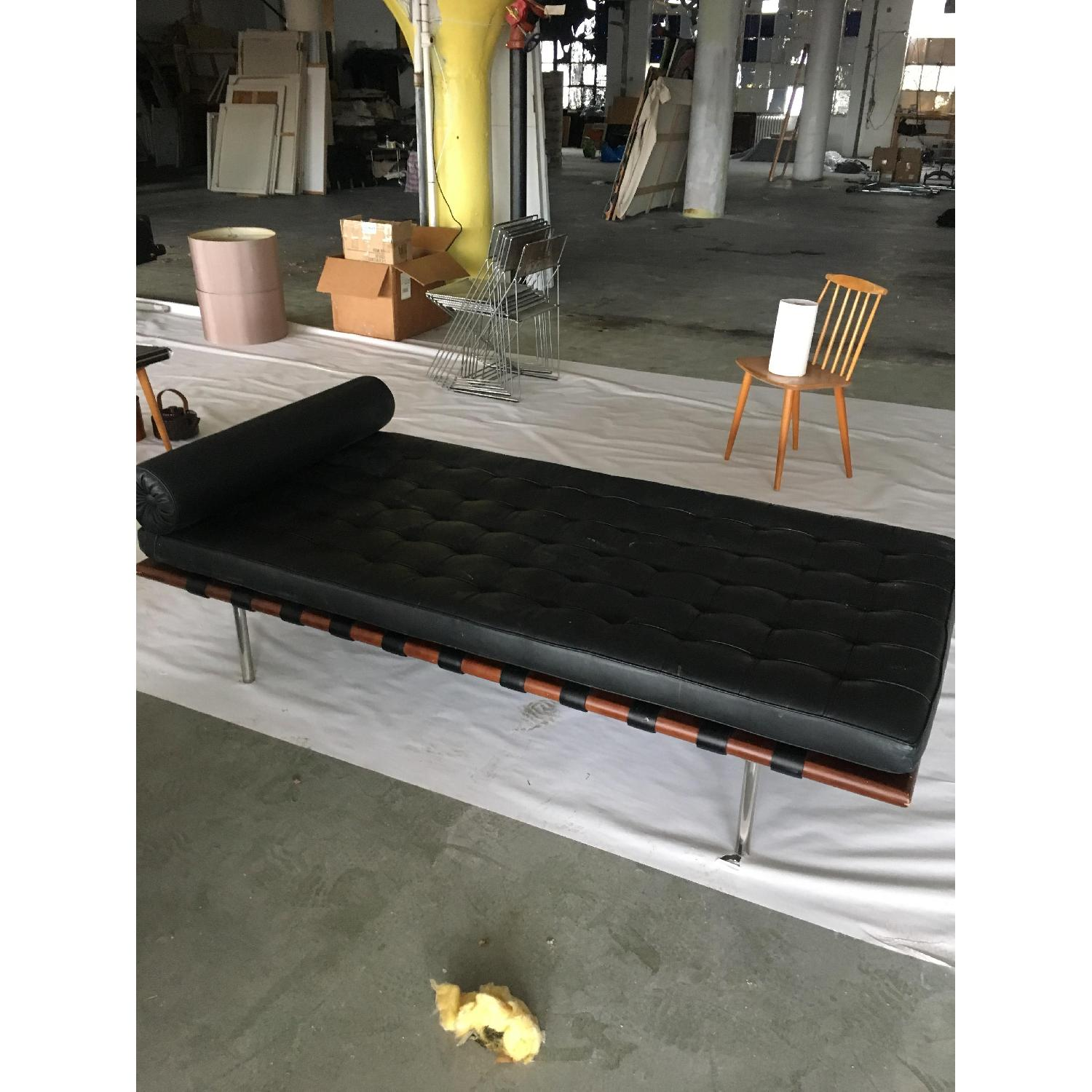 Mies van der Rohe Style Black Barcelona Daybed - image-1