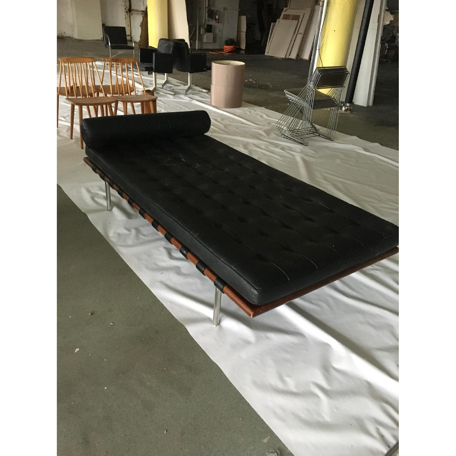 Mies van der Rohe Style Black Barcelona Daybed - image-3