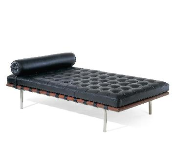 Mies van der Rohe Style Black Barcelona Daybed