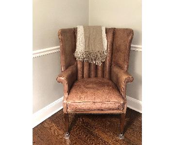 Restoration Hardware Warwick Leather Wingback Chair