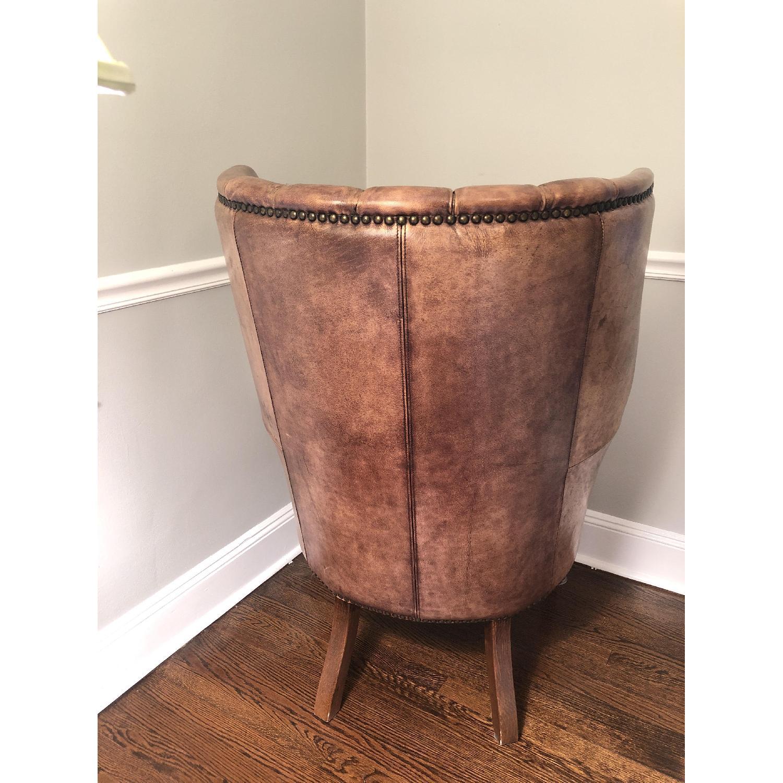 Restoration Hardware Warwick Leather Wingback Chair - image-4