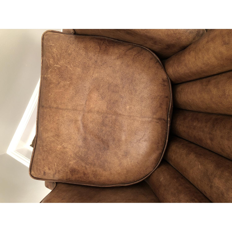 Restoration Hardware Warwick Leather Wingback Chair-4