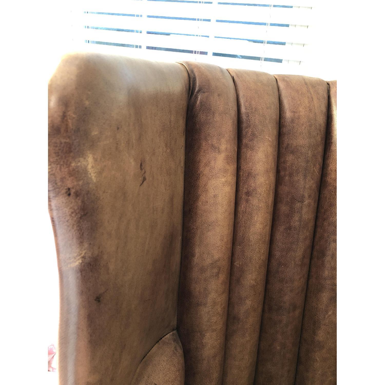 Restoration Hardware Warwick Leather Wingback Chair - image-7
