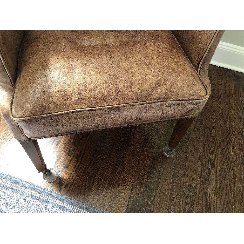 Restoration Hardware Warwick Leather Wingback Chair - image-9