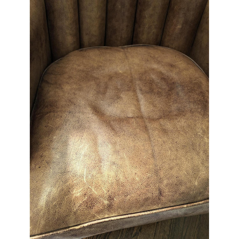 Restoration Hardware Warwick Leather Wingback Chair-9