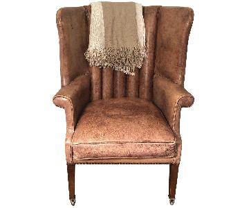 Restoration Hardware Warwick Leather Wingback Chair