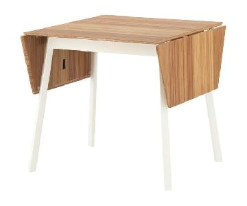 Ikea Bamboo & White Dining Table