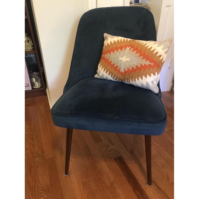 West Elm Mid-Century Velvet Chair