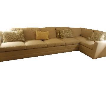 West Elm Linen Sleeper Sectional Sofa