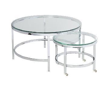 Wade Logan Joel 2 Piece Glass Coffee table