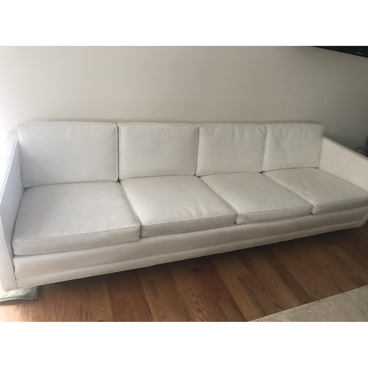 Drexel 1960s White Leather Modern Sofa - image-3