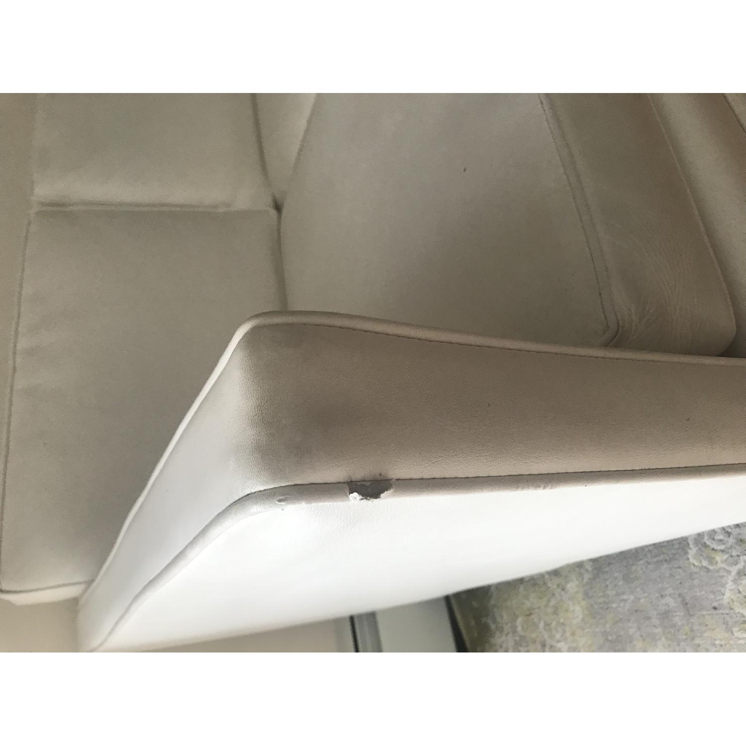 Drexel 1960s White Leather Modern Sofa - image-4