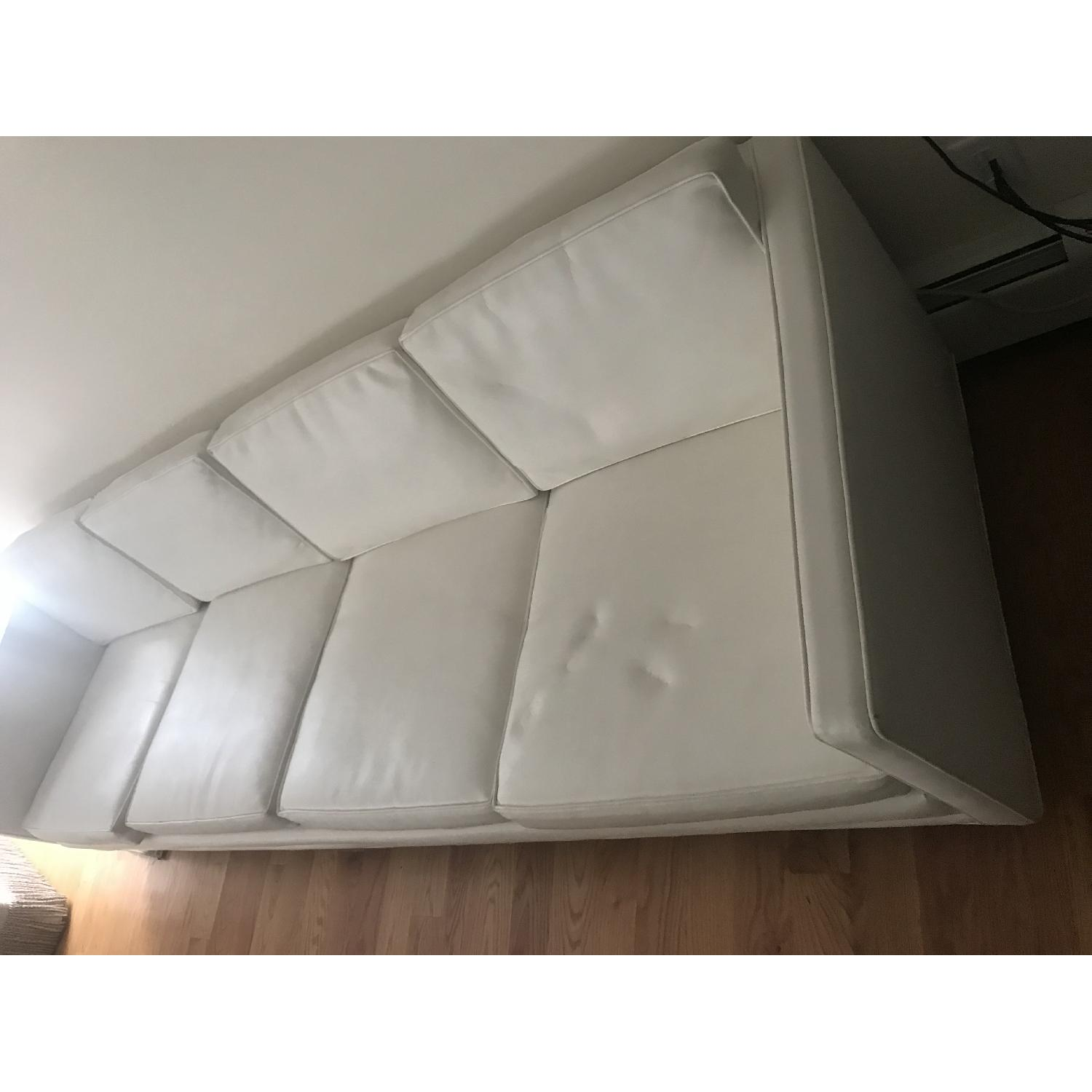 Drexel 1960s White Leather Modern Sofa - image-5
