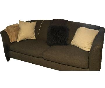 Crate & Barrel Dark Grey 2 Seater Sofa