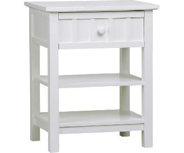 Crate & Barrel White 1-Drawer Nightstand