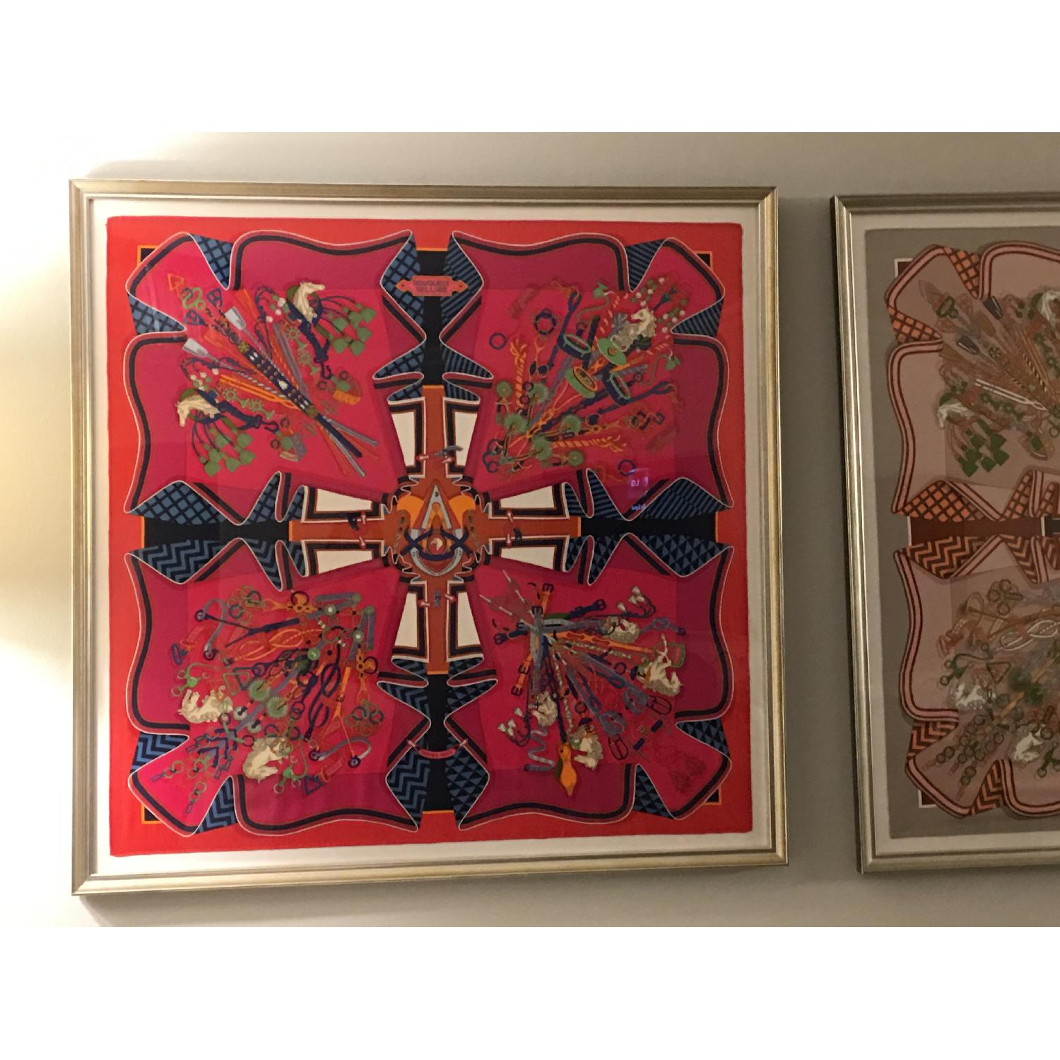 Hermes Framed Scarf Bouquet Sellier in Pink - image-2