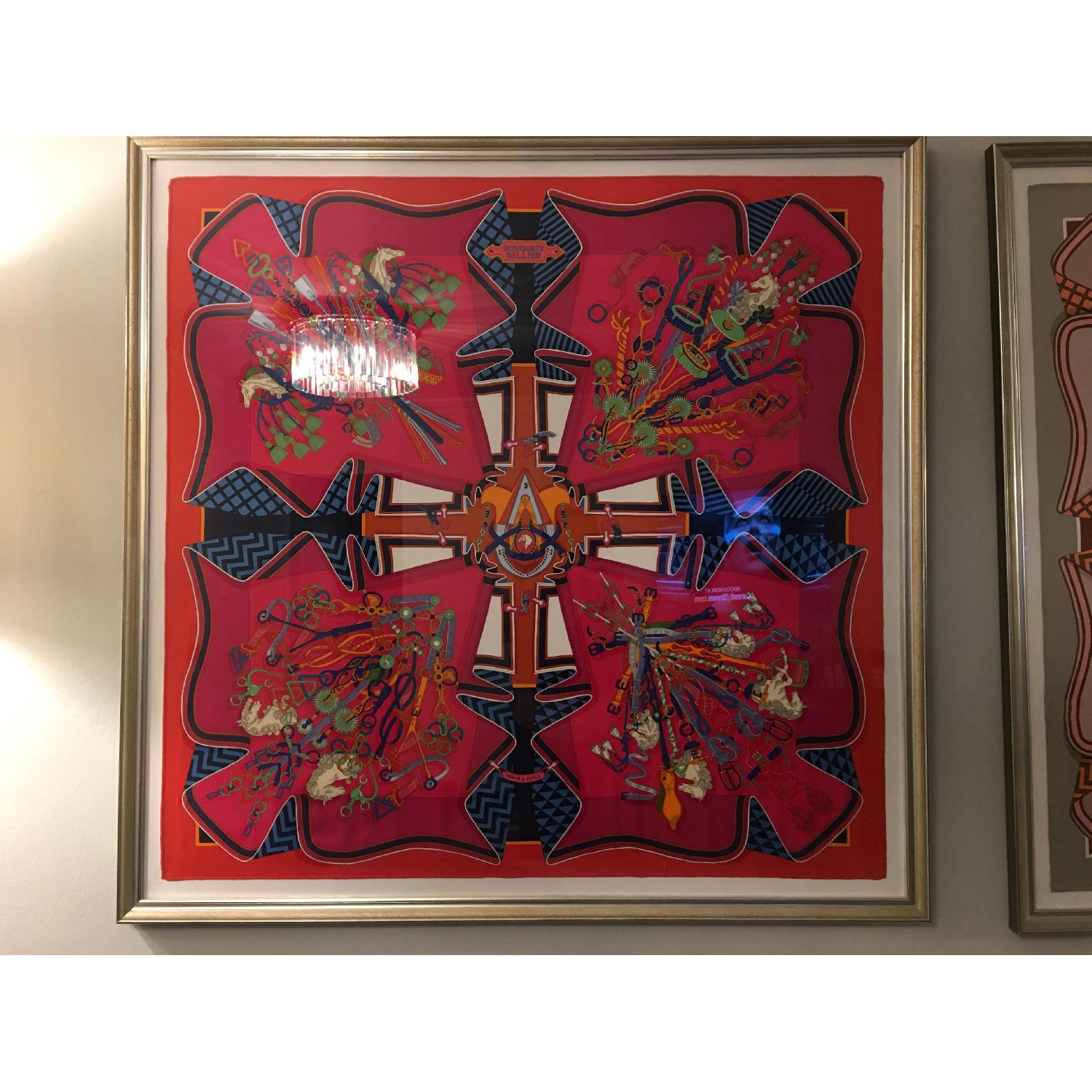 Hermes Framed Scarf Bouquet Sellier in Pink - image-4