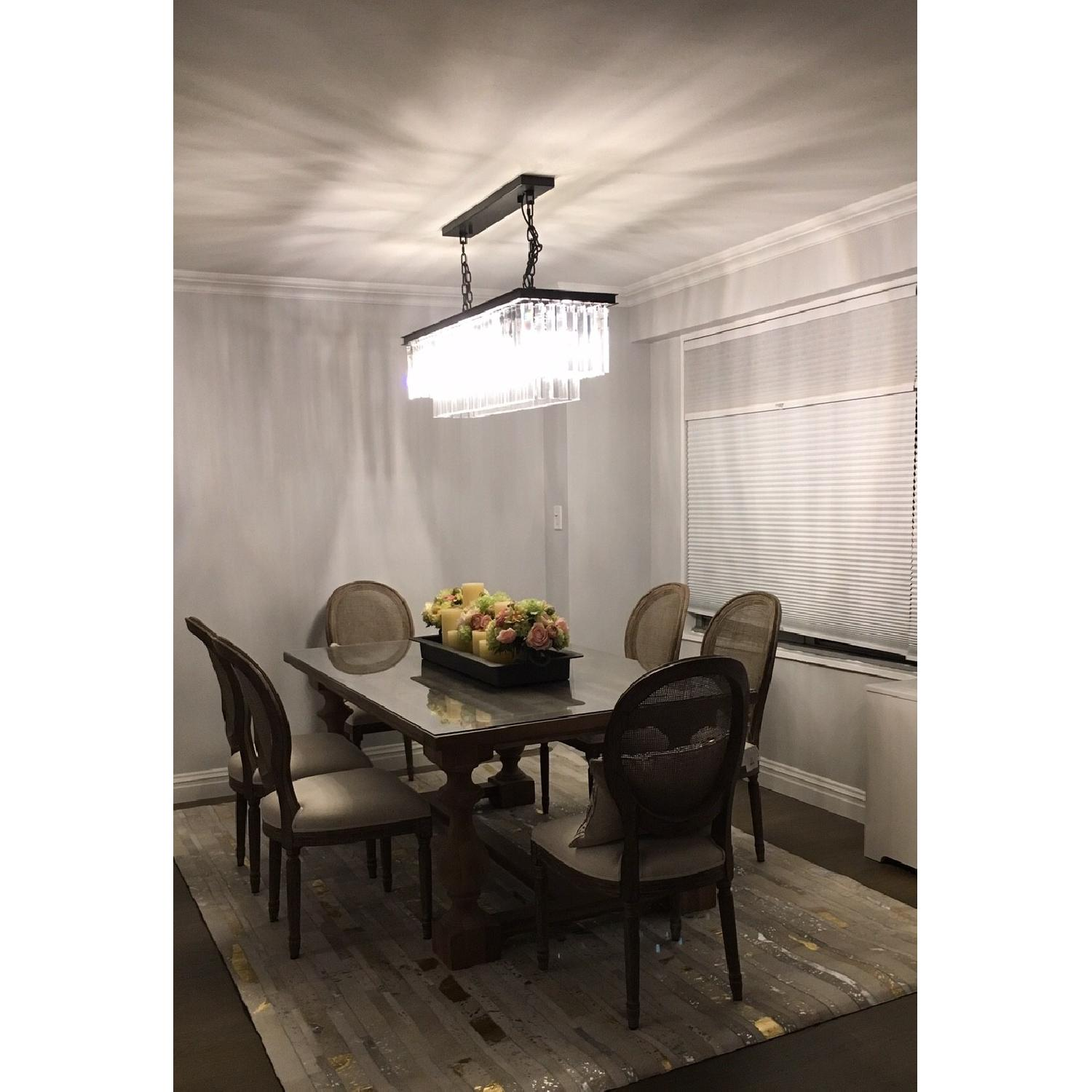 Restoration Hardware Odeon Clear Glass Fringe Chandelier-0