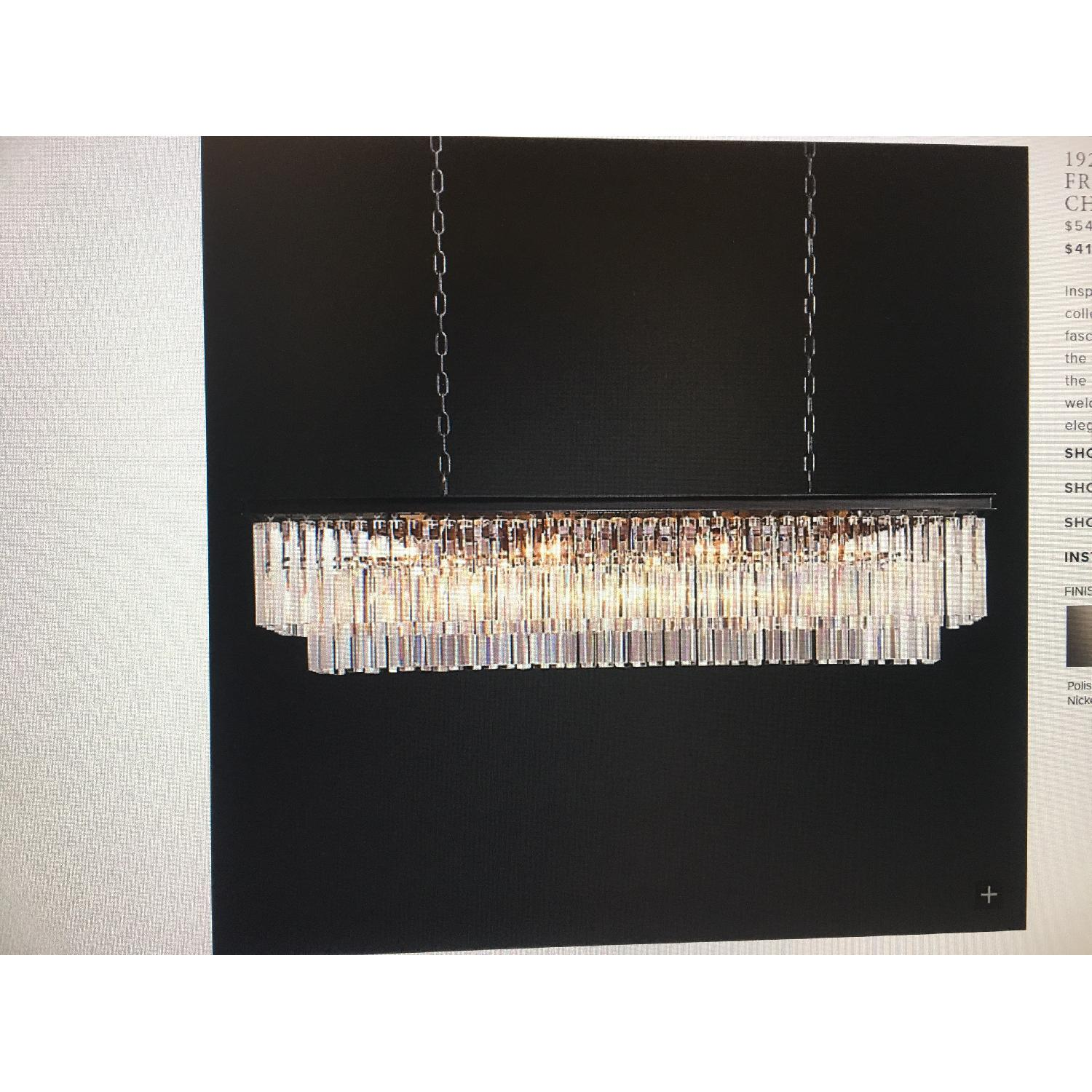 Restoration Hardware Odeon Clear Glass Fringe Chandelier-3