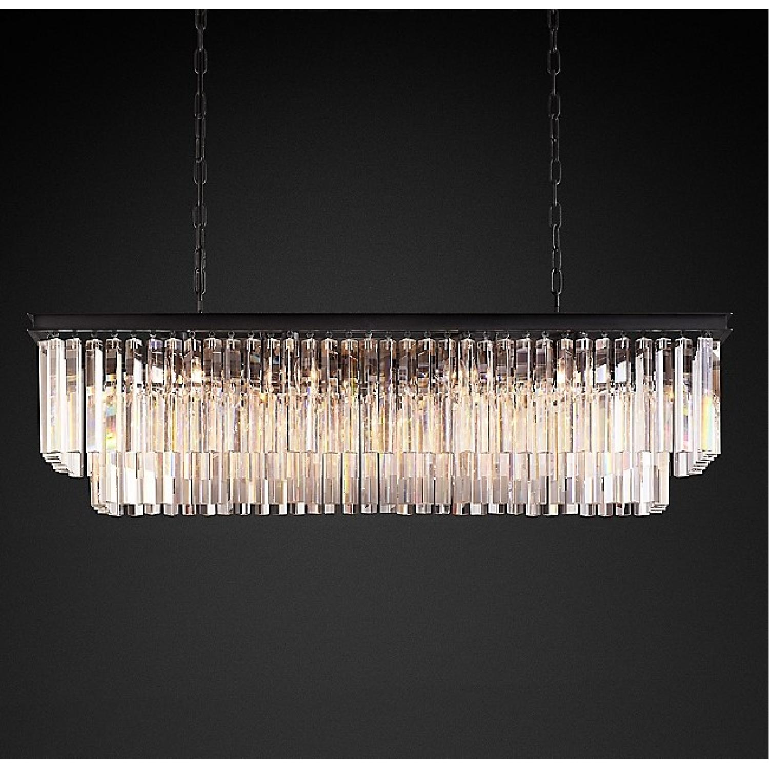 Restoration Hardware Odeon Clear Glass Fringe Chandelier-6