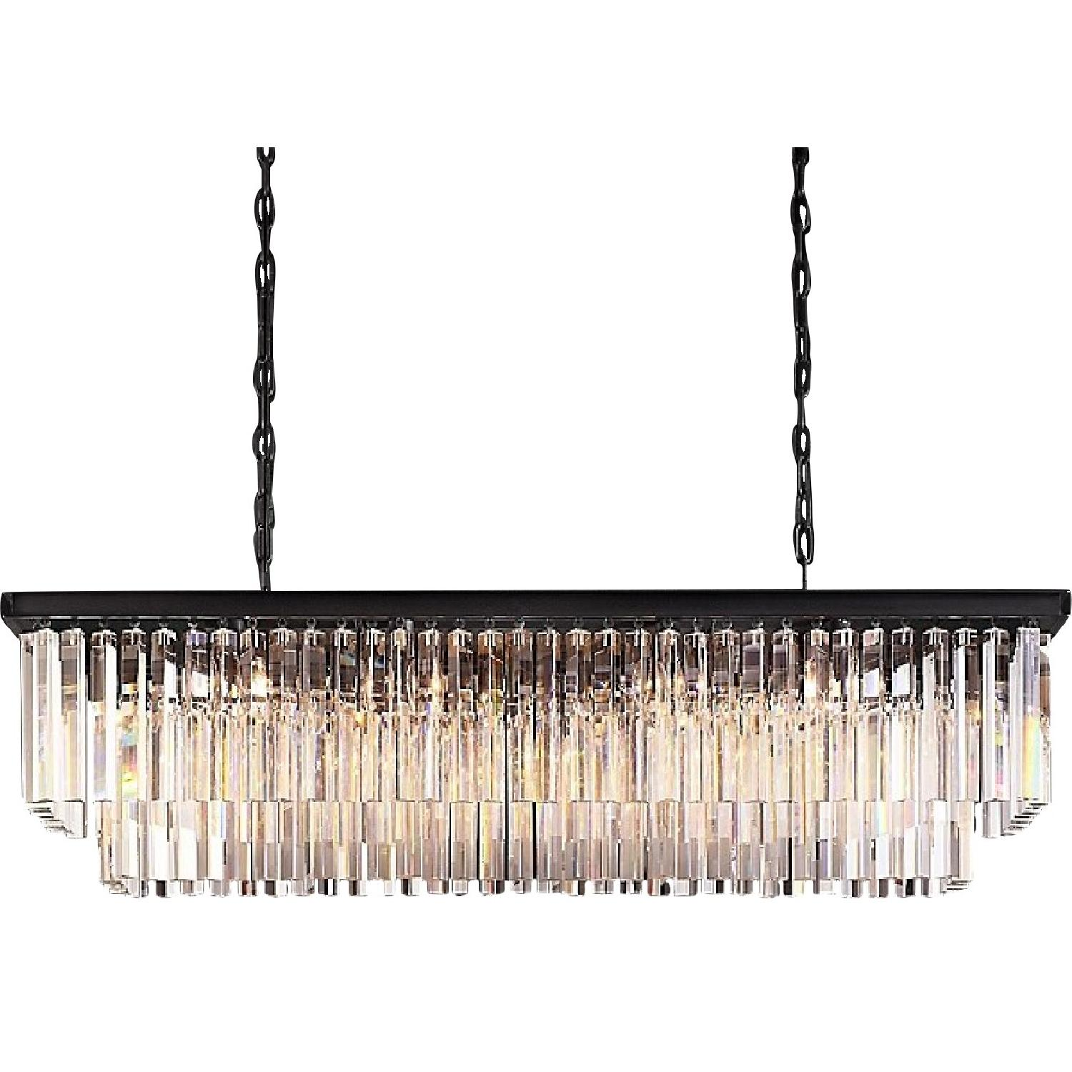 Restoration Hardware Odeon Clear Glass Fringe Chandelier