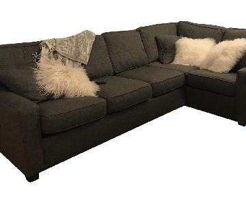 Capris Furniture Charcoal Grey Modern Sectional Sofa