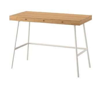 Ikea Bamboo Desk w/ Office Chair & Mirror