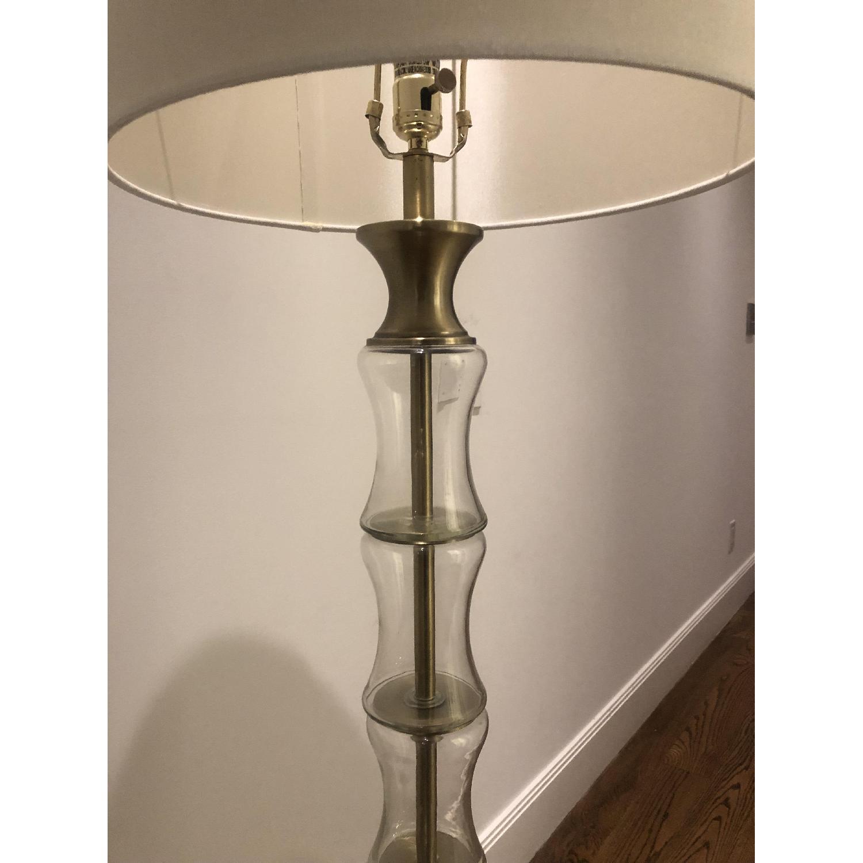 Glass Brass Floor Lamp - image-1