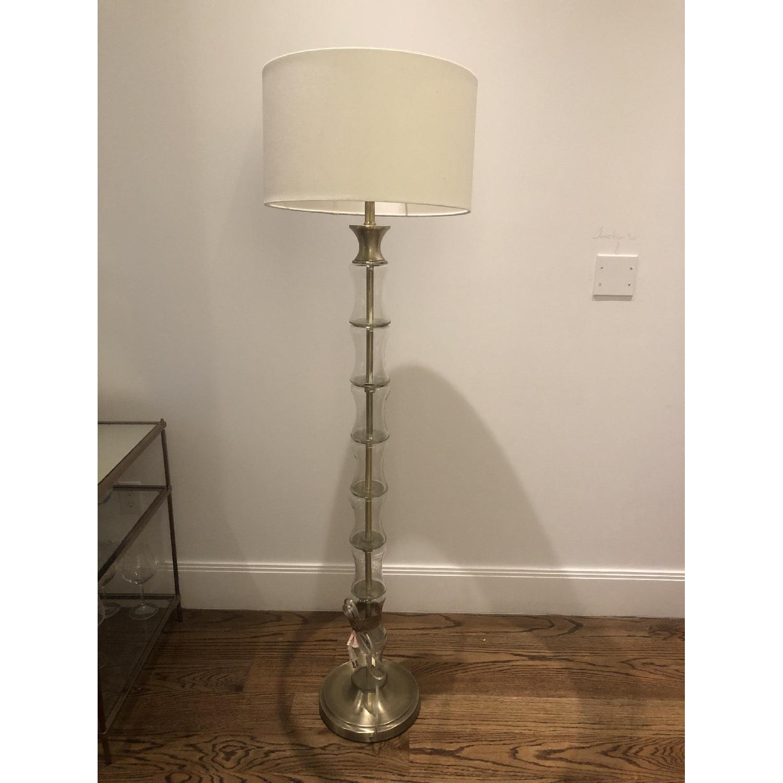 Glass Brass Floor Lamp - image-2