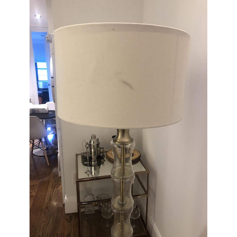 Glass Brass Floor Lamp - image-3