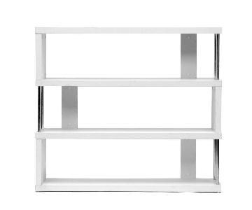 Baxton Studio White 3 Shelf Bookcase