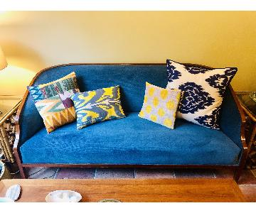 Mid Century Blue Sofa