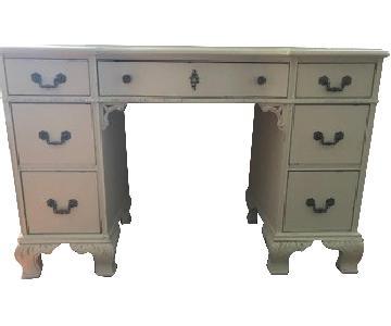 Restoration Hardware Vanity Table w/ Mirror & Chair