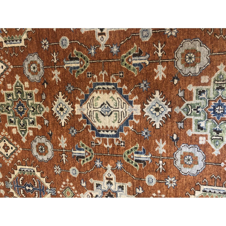 Pakistani Hand-Knotted Wool Kazak Rug - image-6