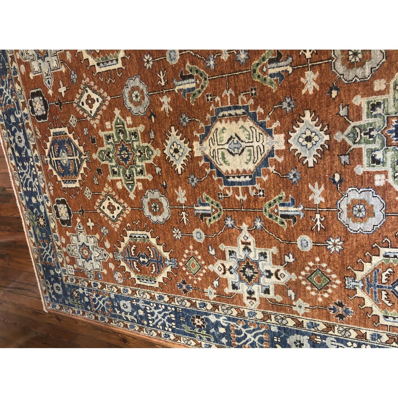 Pakistani Hand-Knotted Wool Kazak Rug - image-10
