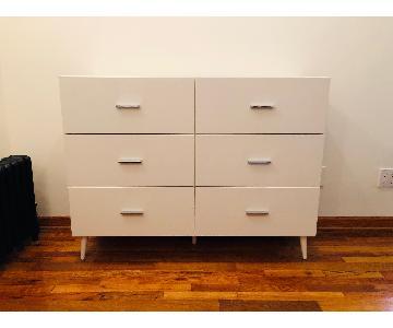White 6-Drawer Dresser