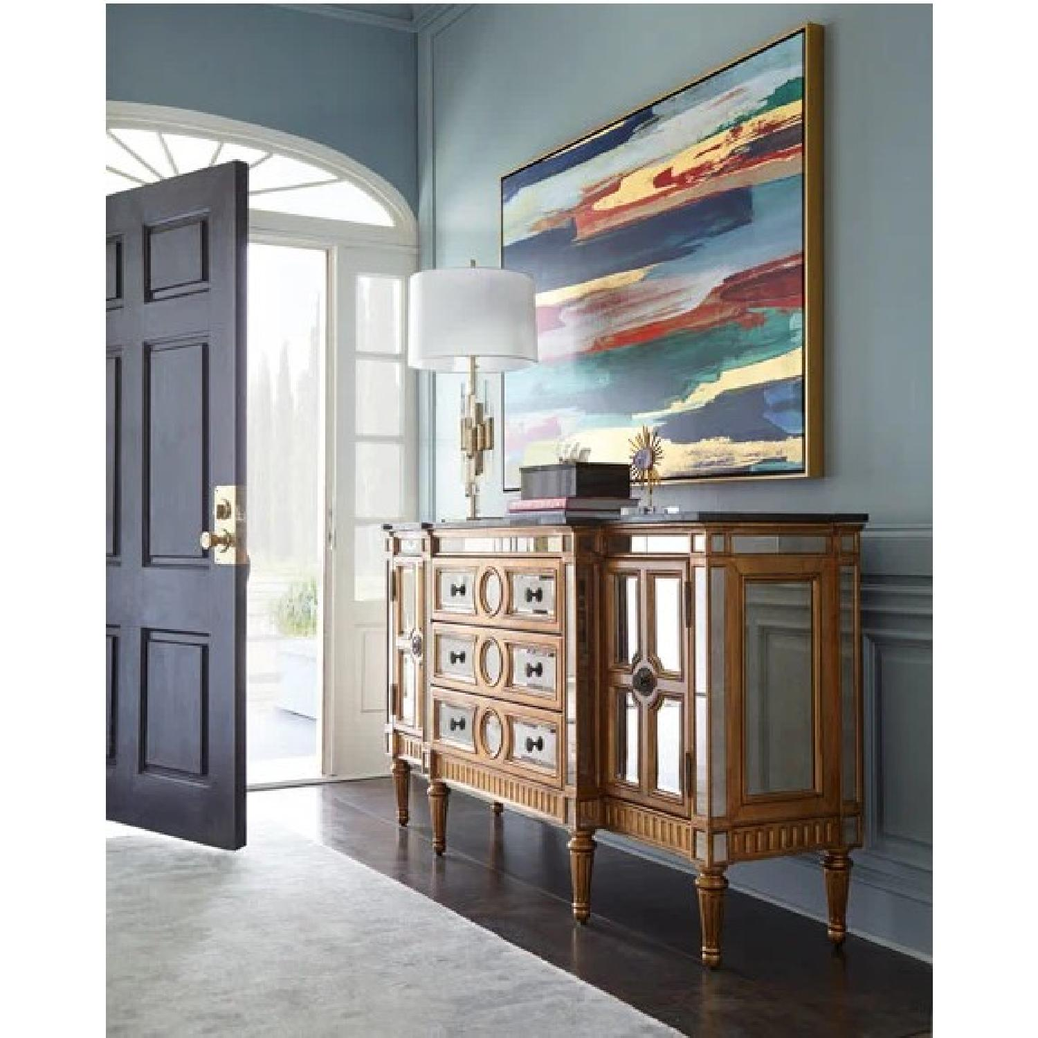 Horchow Golden Mirrored Console - image-2