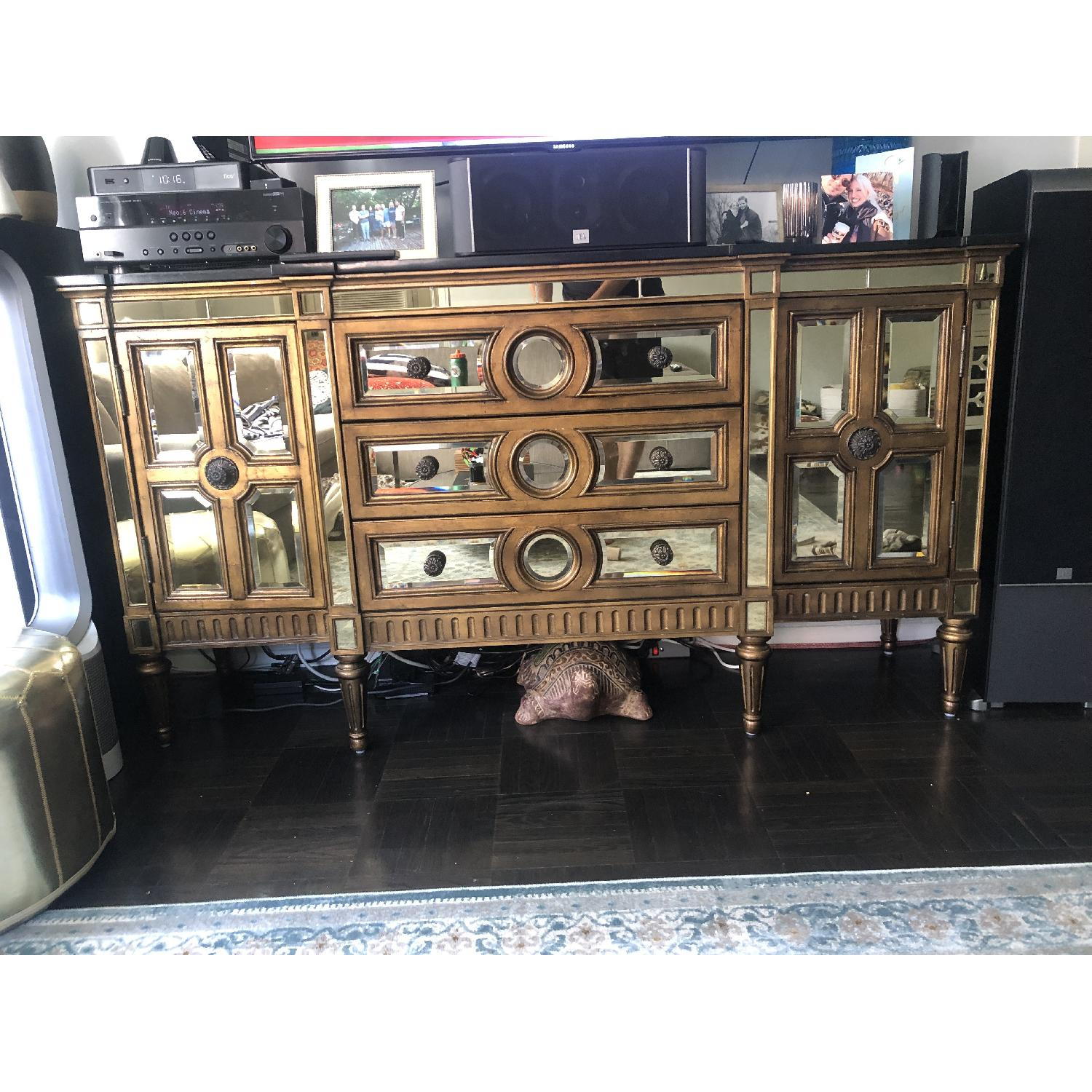 Horchow Golden Mirrored Console - image-3