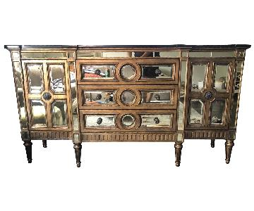 Horchow Golden Mirrored Console