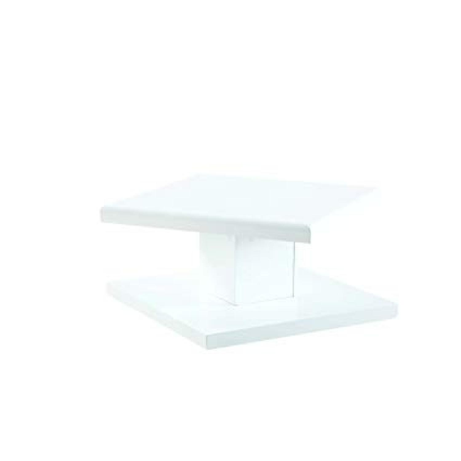 Modern Glossy White Coffee Table - image-1