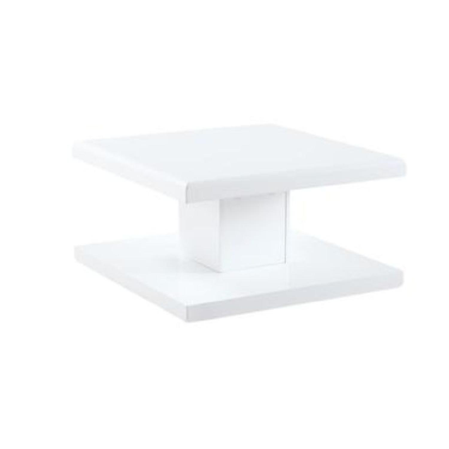 Modern Glossy White Coffee Table