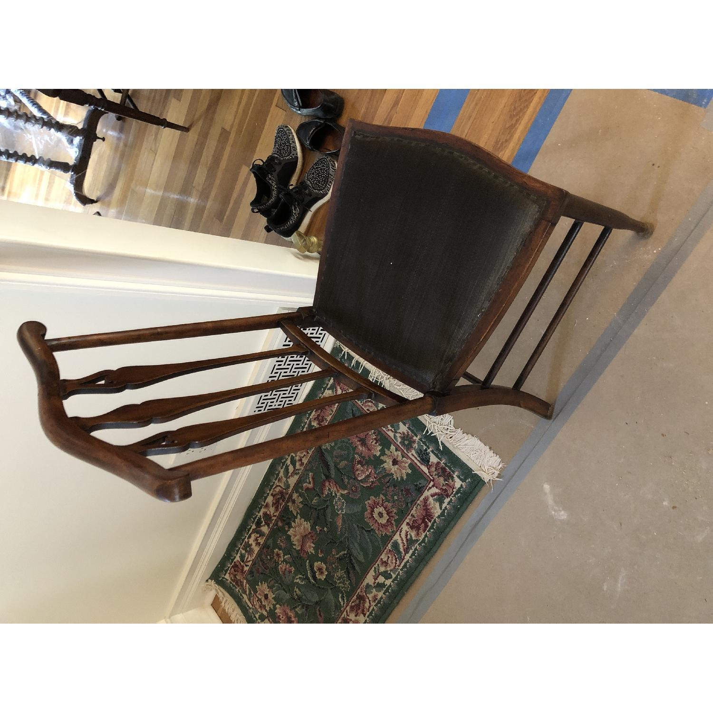 Marvelous Antique Victorian Desk Accent Chair Aptdeco Creativecarmelina Interior Chair Design Creativecarmelinacom