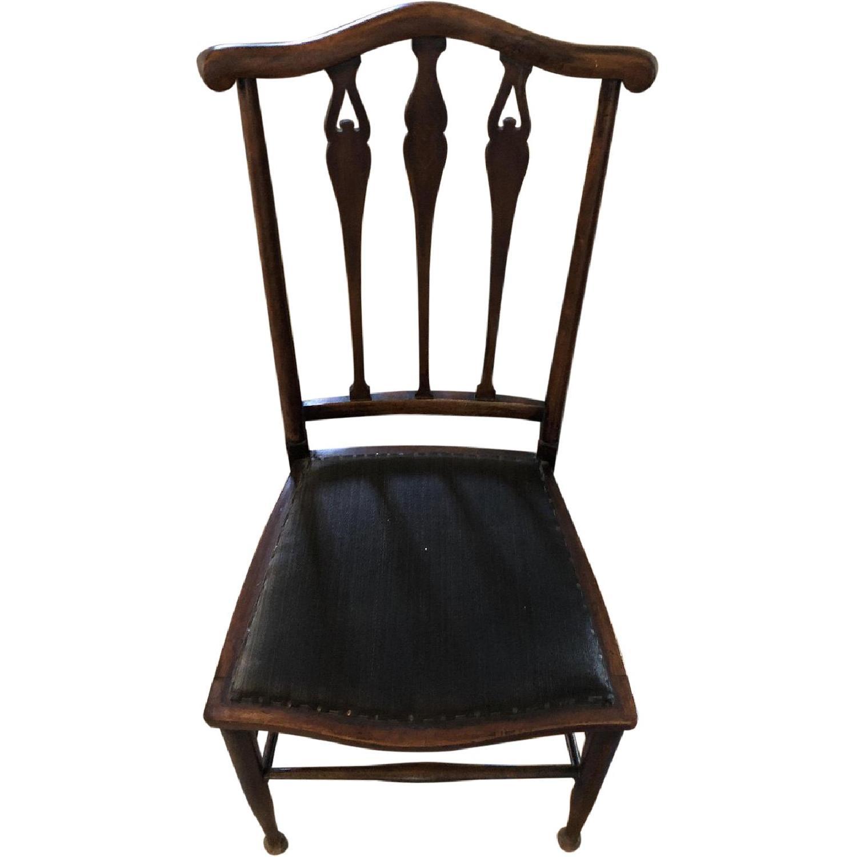 Groovy Antique Victorian Desk Accent Chair Aptdeco Creativecarmelina Interior Chair Design Creativecarmelinacom