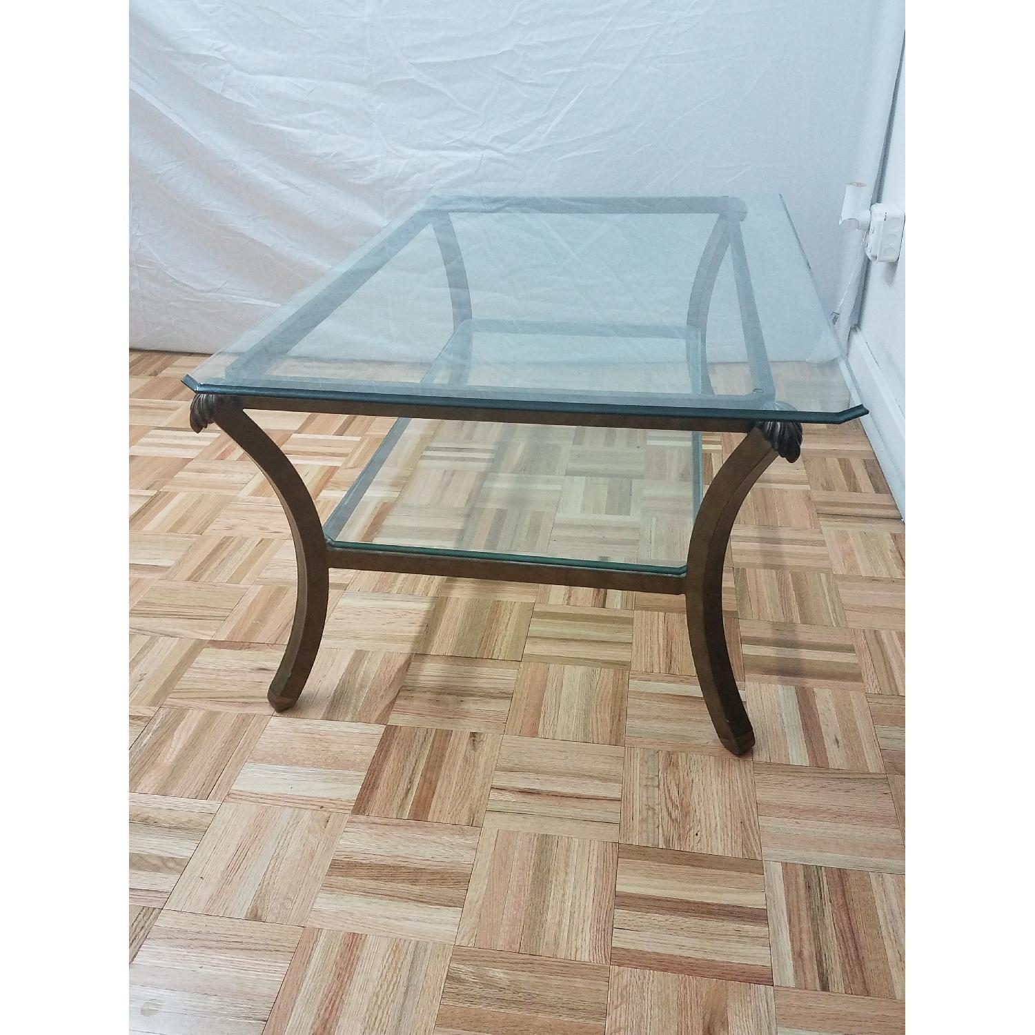 Glass & Metal Coffee Table-1